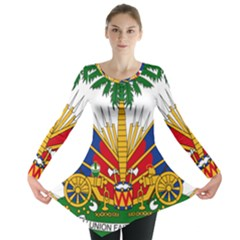 Coat Of Arms Of Haiti Long Sleeve Tunic  by abbeyz71