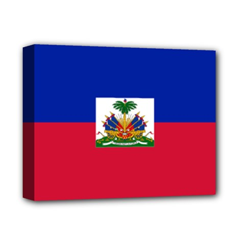 Flag Of Haiti  Deluxe Canvas 14  X 11  by abbeyz71