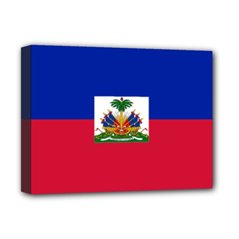Flag Of Haiti  Deluxe Canvas 16  X 12   by abbeyz71