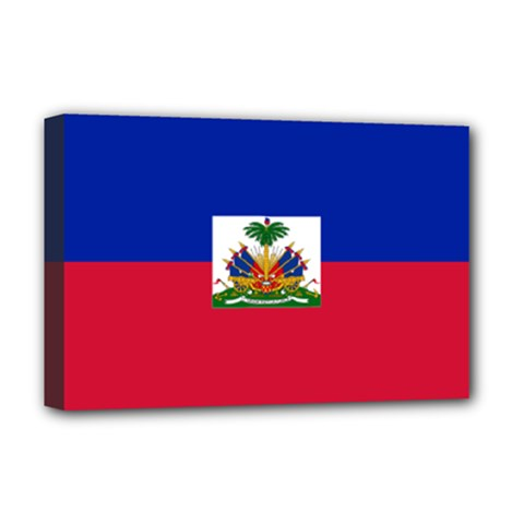 Flag Of Haiti  Deluxe Canvas 18  X 12   by abbeyz71
