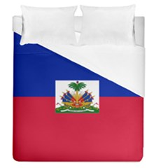 Flag Of Haiti  Duvet Cover (queen Size) by abbeyz71