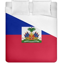 Flag Of Haiti Duvet Cover (california King Size) by abbeyz71