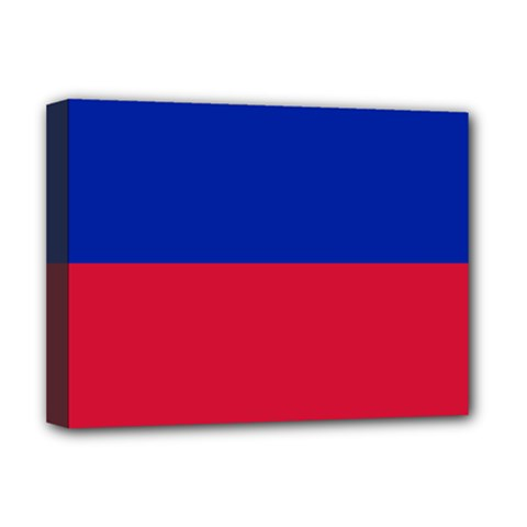 Civil Flag Of Haiti (without Coat Of Arms) Deluxe Canvas 16  X 12   by abbeyz71