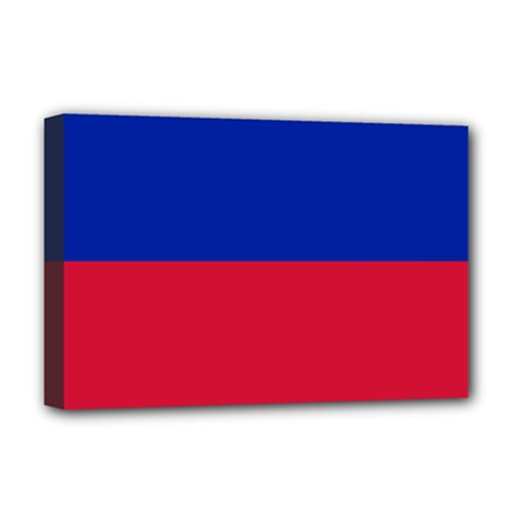 Civil Flag Of Haiti (without Coat Of Arms) Deluxe Canvas 18  X 12   by abbeyz71