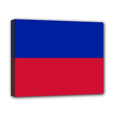 Civil Flag Of Haiti (without Coat Of Arms) Canvas 10  X 8  by abbeyz71