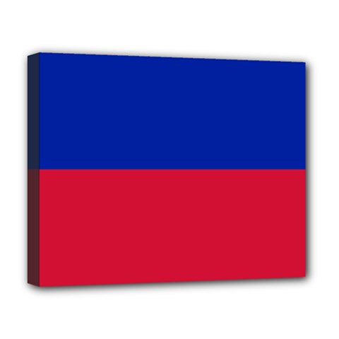 Civil Flag Of Haiti (without Coat Of Arms) Deluxe Canvas 20  X 16   by abbeyz71