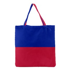 Civil Flag Of Haiti (without Coat Of Arms) Grocery Tote Bag by abbeyz71