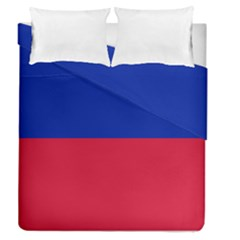Civil Flag Of Haiti (without Coat Of Arms) Duvet Cover Double Side (queen Size) by abbeyz71