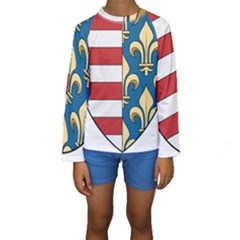 Angevins Dynasty Of Hungary Coat Of Arms Kids  Long Sleeve Swimwear by abbeyz71