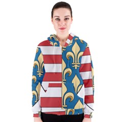 Angevins Dynasty Of Hungary Coat Of Arms Women s Zipper Hoodie
