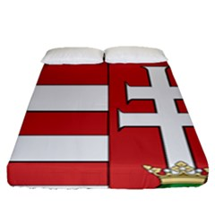 Medieval Coat Of Arms Of Hungary  Fitted Sheet (queen Size) by abbeyz71