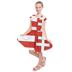 Medieval Coat Of Arms Of Hungary  Kids  Short Sleeve Dress by abbeyz71