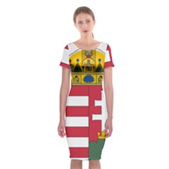 Coat Of Arms Of Hungary Classic Short Sleeve Midi Dress by abbeyz71