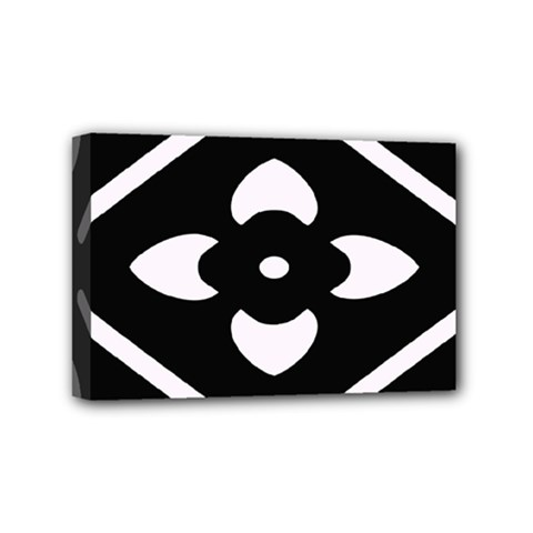 Black And White Pattern Background Mini Canvas 6  X 4
