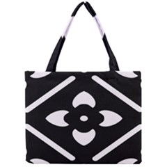 Black And White Pattern Background Mini Tote Bag by Nexatart