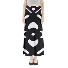 Black And White Pattern Background Maxi Skirts