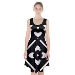 Black And White Pattern Background Racerback Midi Dress