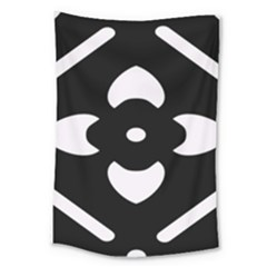 Black And White Pattern Background Large Tapestry by Nexatart