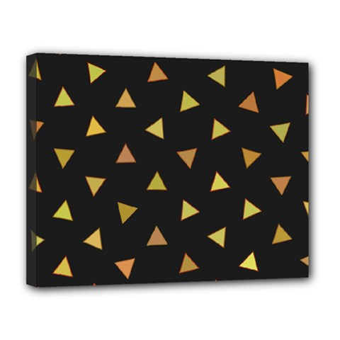 Shapes Abstract Triangles Pattern Canvas 14  X 11  by Nexatart