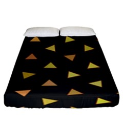 Shapes Abstract Triangles Pattern Fitted Sheet (king Size)