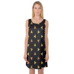 Shapes Abstract Triangles Pattern Sleeveless Satin Nightdress by Nexatart