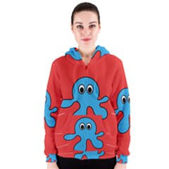 Creature Forms Funny Monster Comic Women s Zipper Hoodie by Nexatart