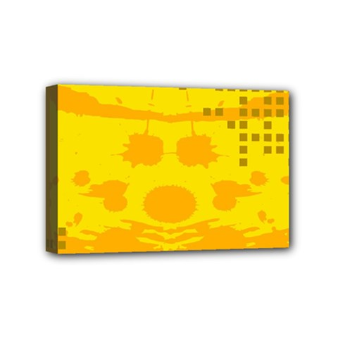 Texture Yellow Abstract Background Mini Canvas 6  X 4  by Nexatart