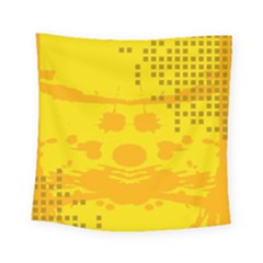 Texture Yellow Abstract Background Square Tapestry (small) by Nexatart