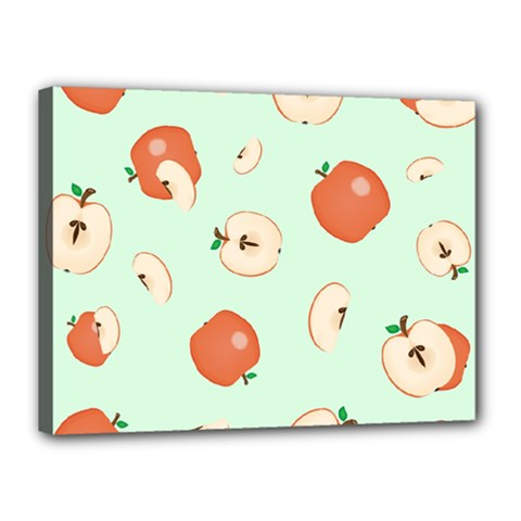 Apple Fruit Background Food Canvas 16  X 12