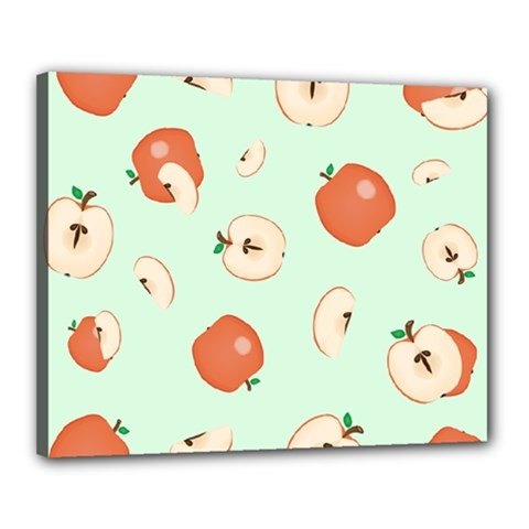 Apple Fruit Background Food Canvas 20  X 16