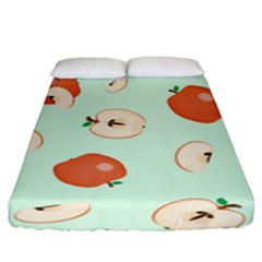 Apple Fruit Background Food Fitted Sheet (king Size) by Nexatart