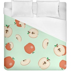 Apple Fruit Background Food Duvet Cover (king Size) by Nexatart