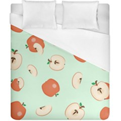 Apple Fruit Background Food Duvet Cover (california King Size) by Nexatart