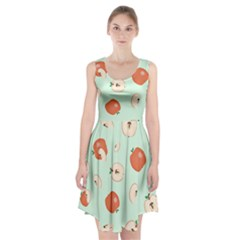 Apple Fruit Background Food Racerback Midi Dress