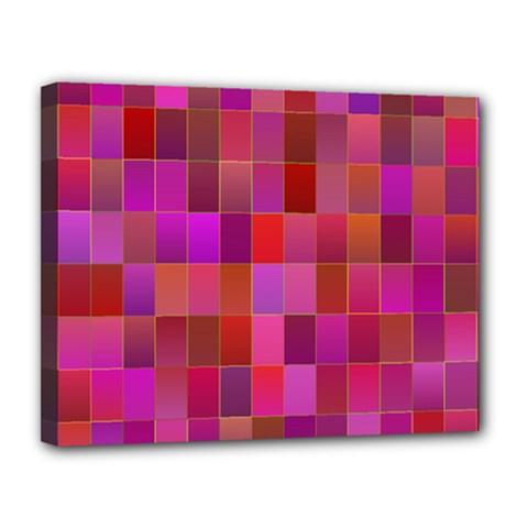 Shapes Abstract Pink Canvas 14  X 11