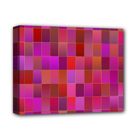 Shapes Abstract Pink Deluxe Canvas 14  X 11  by Nexatart