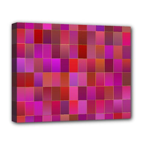 Shapes Abstract Pink Deluxe Canvas 20  X 16