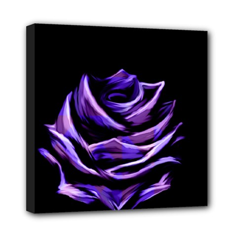 Rose Flower Design Nature Blossom Mini Canvas 8  X 8  by Nexatart