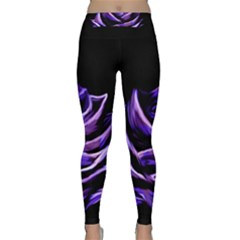 Rose Flower Design Nature Blossom Classic Yoga Leggings