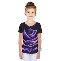 Rose Flower Design Nature Blossom Kids  One Piece Tee by Nexatart