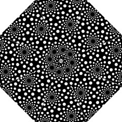 Dot Dots Round Black And White Hook Handle Umbrellas (large)