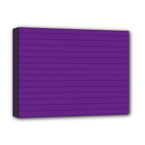 Pattern Violet Purple Background Deluxe Canvas 16  X 12   by Nexatart