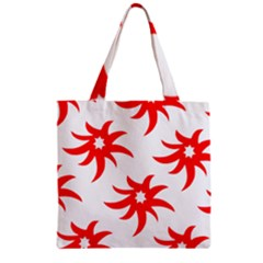 Star Figure Form Pattern Structure Zipper Grocery Tote Bag by Nexatart