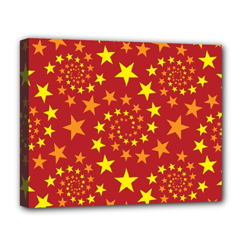 Star Stars Pattern Design Deluxe Canvas 20  X 16   by Nexatart