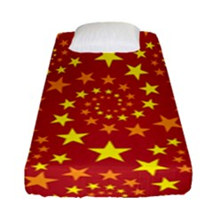 Star Stars Pattern Design Fitted Sheet (single Size) by Nexatart