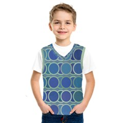 Circles Abstract Blue Pattern Kids  Sportswear