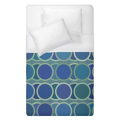 Circles Abstract Blue Pattern Duvet Cover (single Size) by Nexatart
