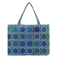 Circles Abstract Blue Pattern Medium Tote Bag