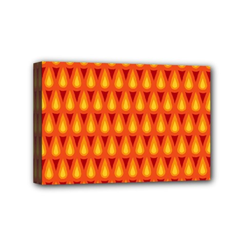 Simple Minimal Flame Background Mini Canvas 6  X 4  by Nexatart