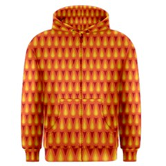 Simple Minimal Flame Background Men s Zipper Hoodie